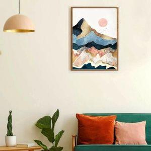 "NWT! U O ""Deny Golden Peaks"" Fabric Wall Art"